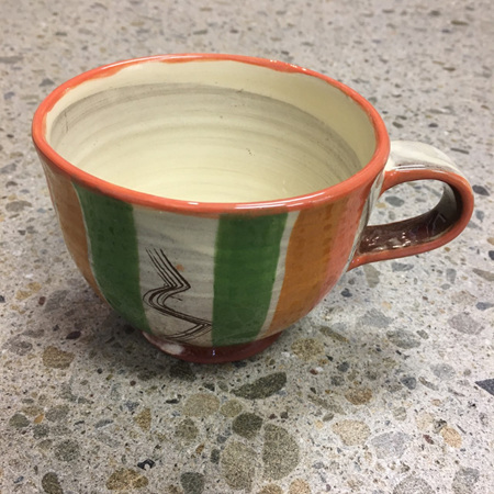 Handcrafted Terracotta Cup #8
