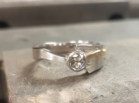 Handcrafting a Contemporary Diamond Ring
