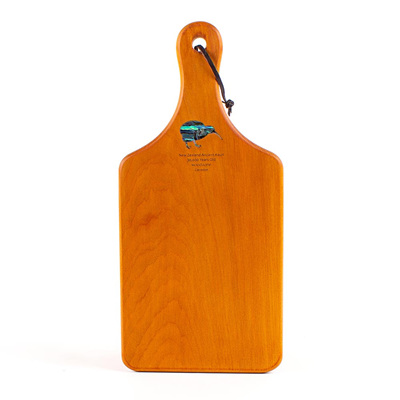 Handle Board Small with Paua - Ancient Kauri