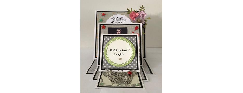 Handmade, male, birthday, card, shaker