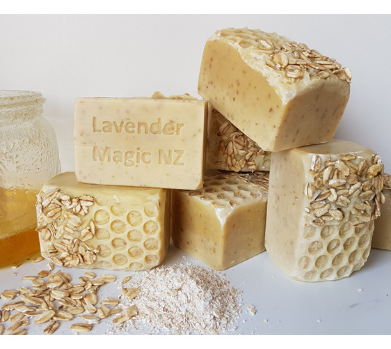 Handmade soap Honey and oatmeal