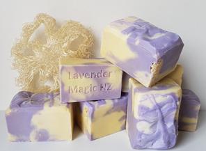 Handmade soap Lavender Loofah