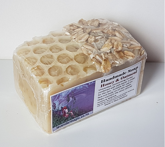 handmade soap with honey and oatmeal