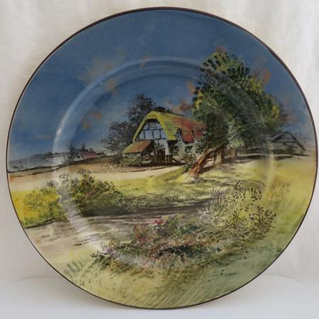 Handpainted cottage plate