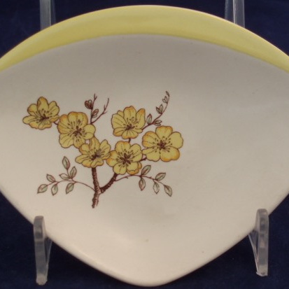 Handpainted little blossoms dish
