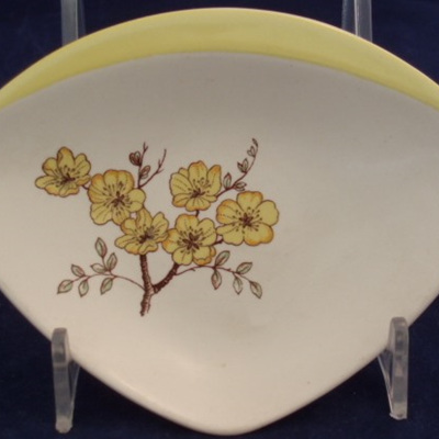 Handpainted little blossoms dish