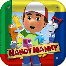 Handy Manny 22cm Dinner Plates 8pkt