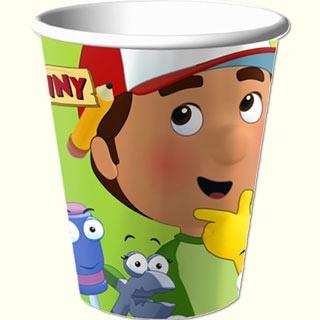Handy Manny 266ml Cups 8pkt