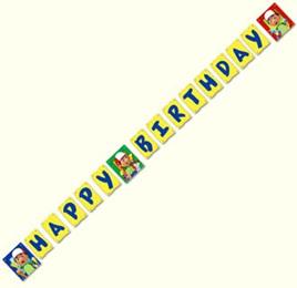 Handy Manny Happy Birthday Banner