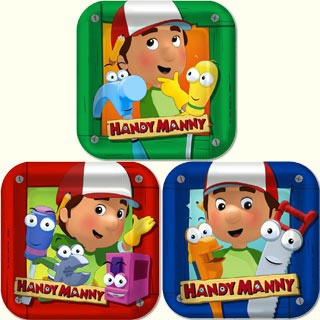 Handy Manny Square Lunch Plates 17cm