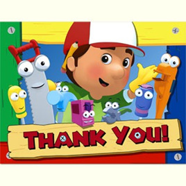 Handy Manny Thank You Notes