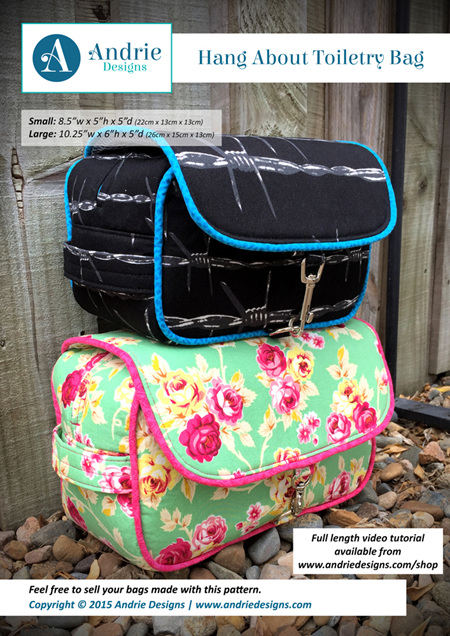 Hang About Toiletry Bag Pattern