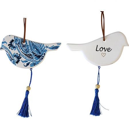 HANGING BIRD INDIGO VINTAGE