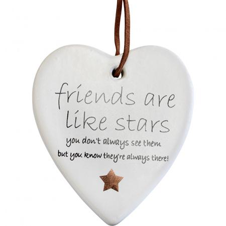 HANGING HEART FRIENDS STARS