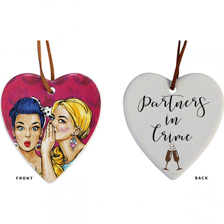 HANGING HEART PARTNERS IN CRIME