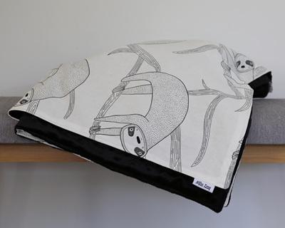 Sloths Life Black Blanket