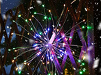 Hanging Starburst Light 136LED, with Remote Control - Multicolor