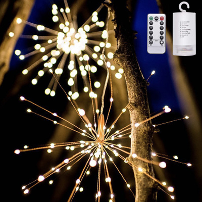 Hanging Starburst Light 200LED Warm White, with Remote Control