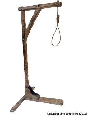 hangmans,hangman,prop,noose,hanging,medieval,death,horror,halloween,hire
