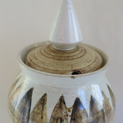 Lidded pot with cone lid