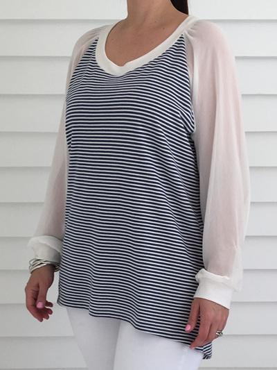Hannah Top Stripe