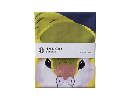 Hansby Design Kakapo Tea Towel
