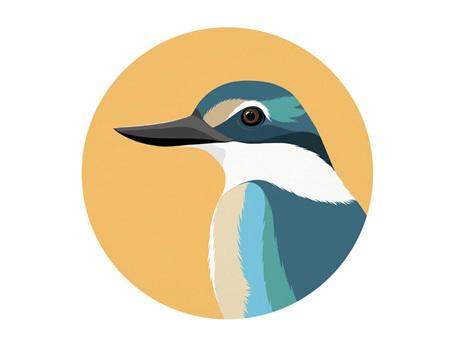 Hansby Design Kingfisher Gold Art Spot Small 140mm Diameter