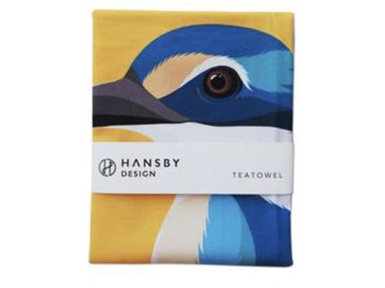 Hansby Design Kingfisher Tea Towel