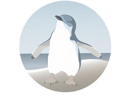 Hansby Design Penguin Blue Art Spot Medium 300mm Diameter