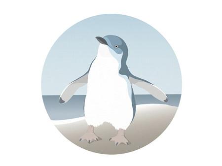 Hansby Design Penguin Blue Art Spot Small 140mm Diameter