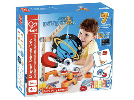 Hape Junior Inventor Magnet Science Lab 34 Pieces