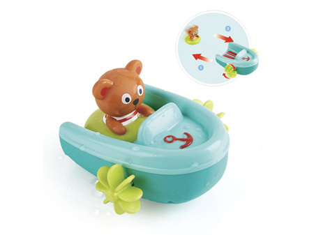 Hape Tubing Pull-Back Boat Bath Toy