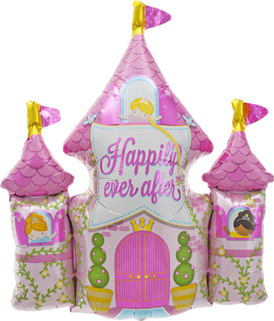 Happily Ever After Princess Castle foil balloon