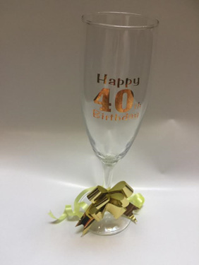 Happy 40th Birthday Champagne Flute