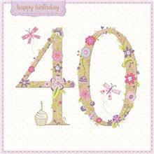 Happy Birthday 40 pink