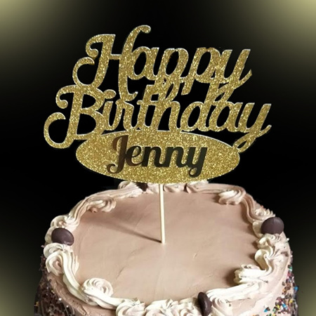 Happy Birthday Personalised Topper