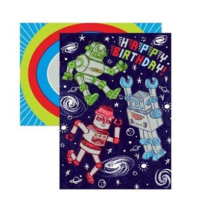 Happy Birthday - Robot card