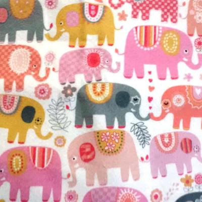 Happy Elephants Flannel
