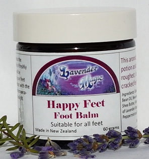 Happy Feet foot balm made in New Zealand by Lavender Magic