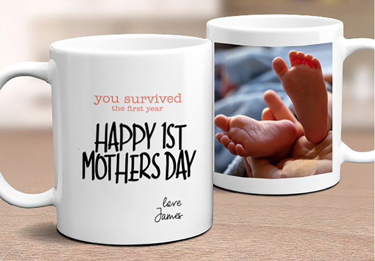 Happy First Mother's Day Personalised Mug
