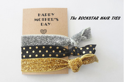 Happy Mother's Day Hair Ties (pack of 3 ties)