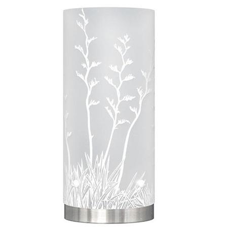 Harakeke, NZ Flax Table Lamp, White Silhouette