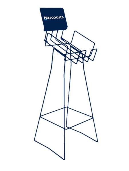 HARCOURTS A4 LAIDBACK PORTRAIT STAND