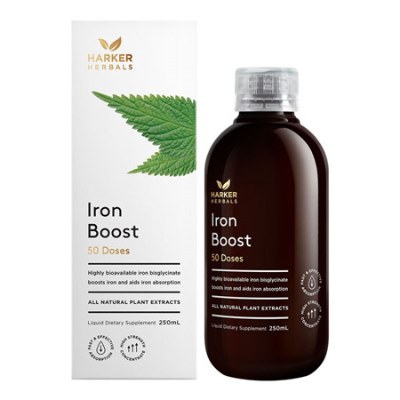 Harker Herbals Be Well Range -  Iron Boost 250ml