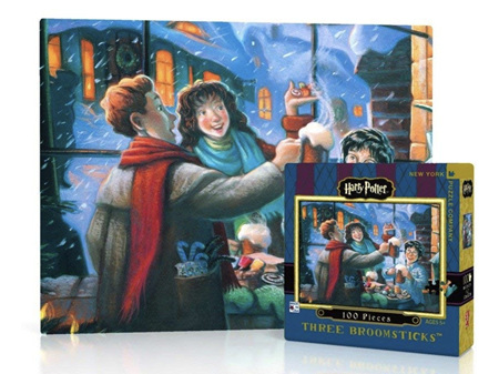 Harry Potter 3 Broomsticks 100 Piece Mini Puzzle by New York Puzzle Company