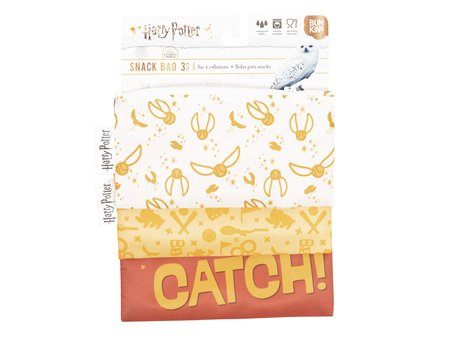 Harry Potter Snack Bag Combo 3 Pack Quidditch