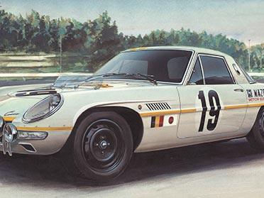 """Hasegawa 1/24 Mazda Cosmo Sport """"1968 Marathon de la Route"""" Limited Edition"""