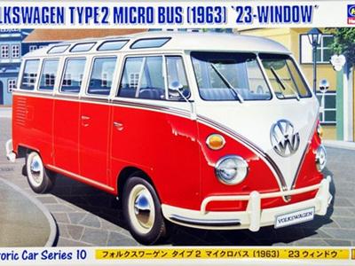 """Hasegawa 1/24 Volkswagen Type 2 Microbus """"23 Windows"""""""