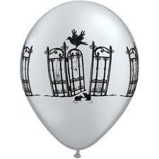 Haunted iron gate latex balloon