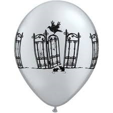 Haunted iron gate latex balloon